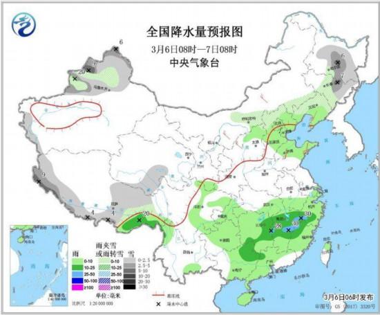 南方地区多阴雨天气黄淮江汉等地将有大雾