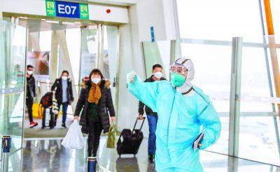 北京双机场测温消毒忙