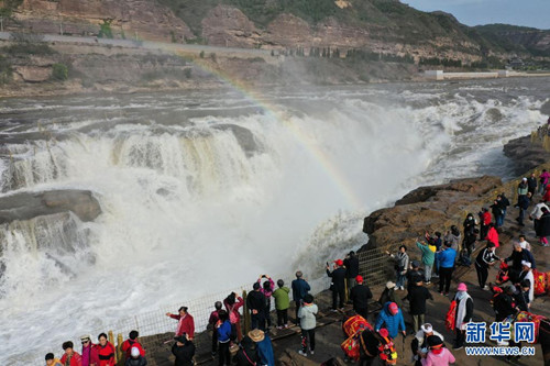 山西吉县黄河壶口瀑布景区恢复开放