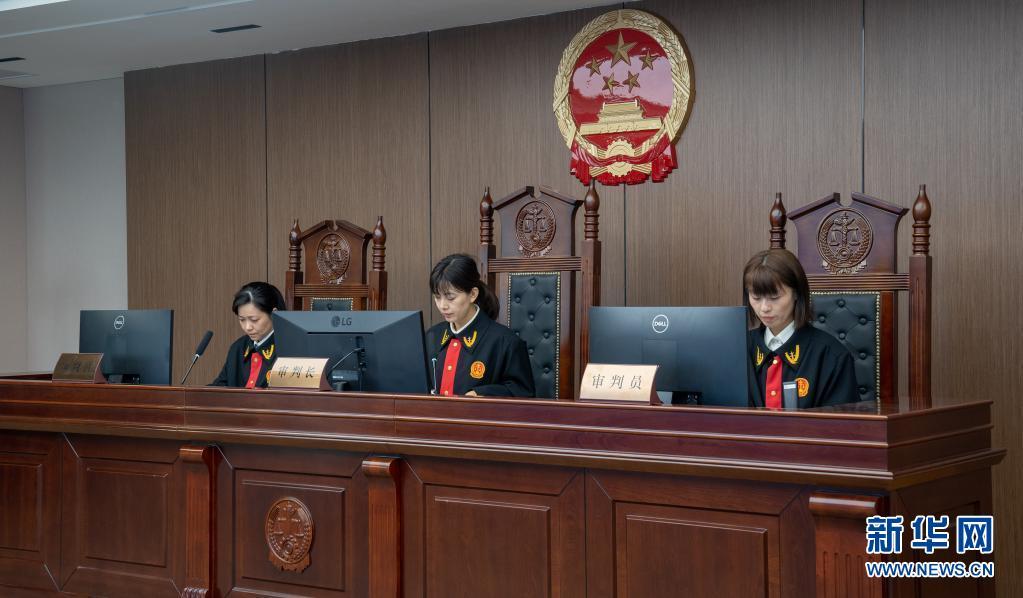 我国中西部首个互联网法庭开审首案[组图]